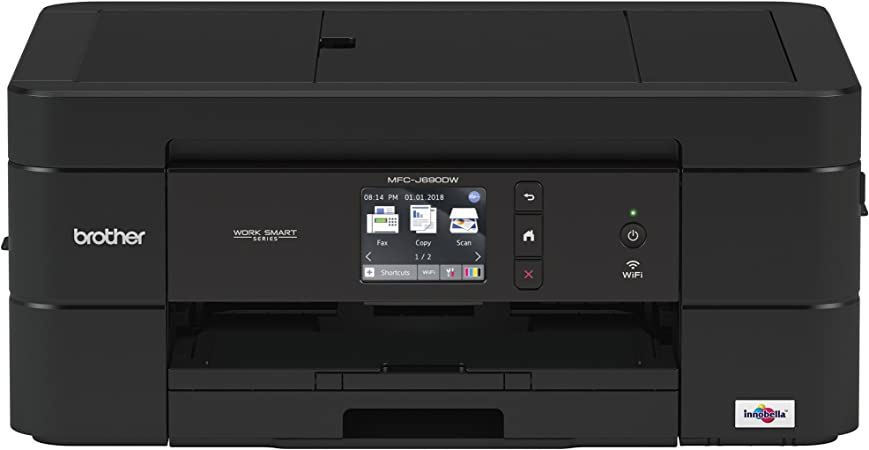 Brother Wireless All-in-One Inkjet Printer, MFC-J690DW, Multi-function Color Printer, Duplex Printing, Mobile Printing, Amazon Dash Replenishment ...
