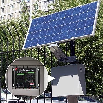 Contr/ôleur de charge solaire 30A r/égulateur de batterie intelligent de contr/ôleur de batterie de panneau solaire USB 12V 24V avec /écran LCD