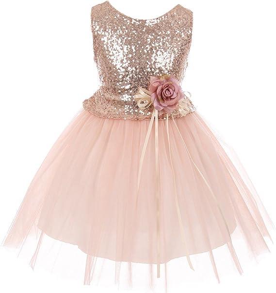 Amazon.com: Dreamer vestido de lentejuelas con purpurina ...