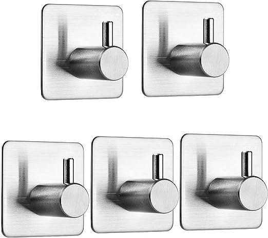 3 ganci piccoli gancio adesivo ovale argento o beige biadesivo appendiabiti