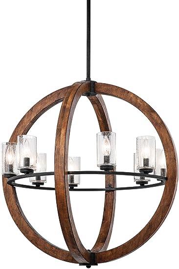 Amazon.com: Kichler 43190 Aub Grand banco lámpara de araña ...