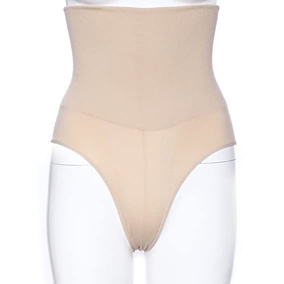 e24ea56882 Firm Control Slimming Postnatal High Waisted Tummy Tucker Hip Trimmer  Shaping Pants Panties Knickers Underwear Briefs (Beige)  Amazon.co.uk   Clothing