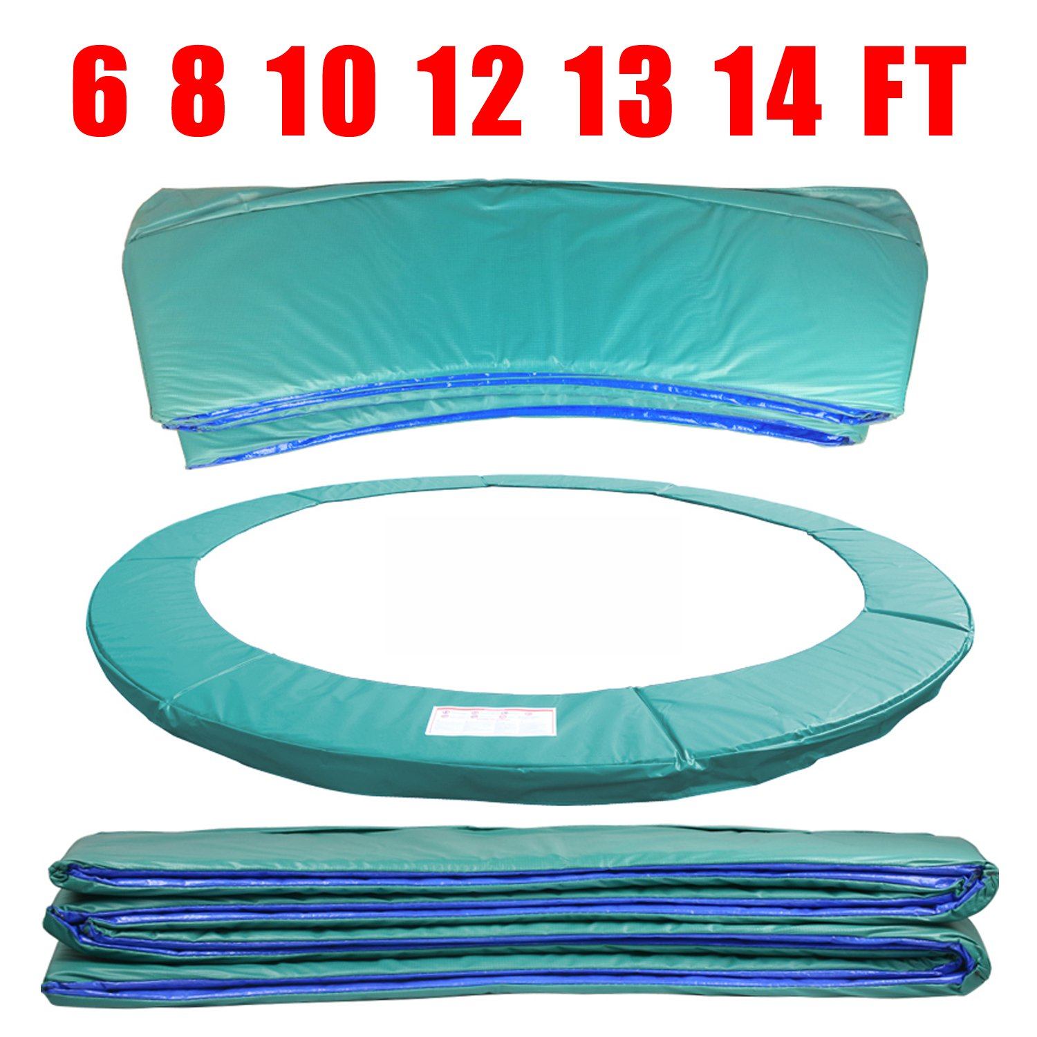 Greenbay 6FT Trampoline Replacement Pad Safety Spring Cover Padding Surround Pads