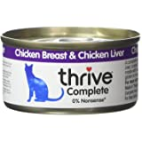 Thrive Cat Food Complete Chicken and Liver, Pack of 6
