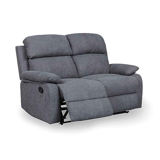 DecoInParis - Sofá Relax 2 plazas de Tela Keaton: Amazon.es ...