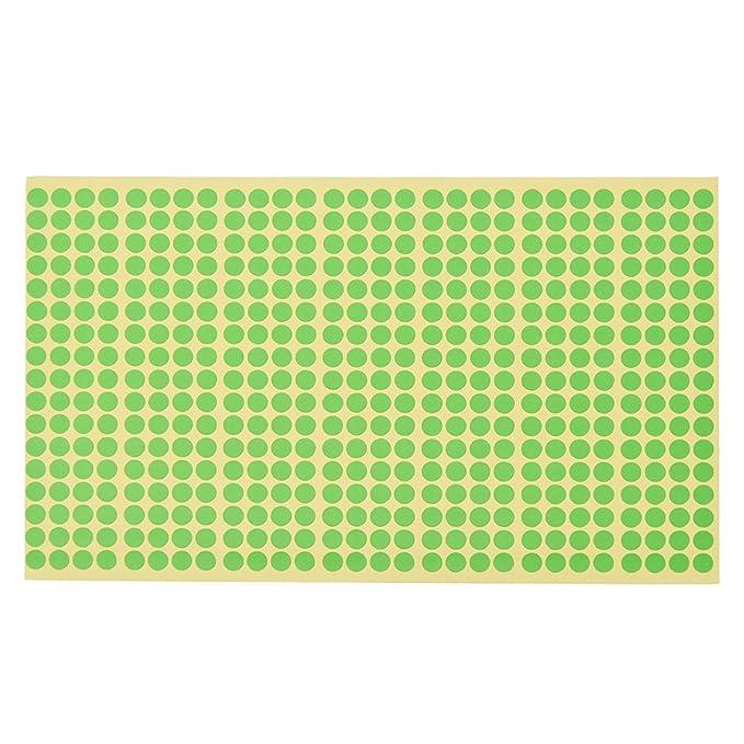 YNuth 10 Bl/ätter Klebepunkte Etiketten Mehrfarbig Markierung Durchmesser 6mm Set