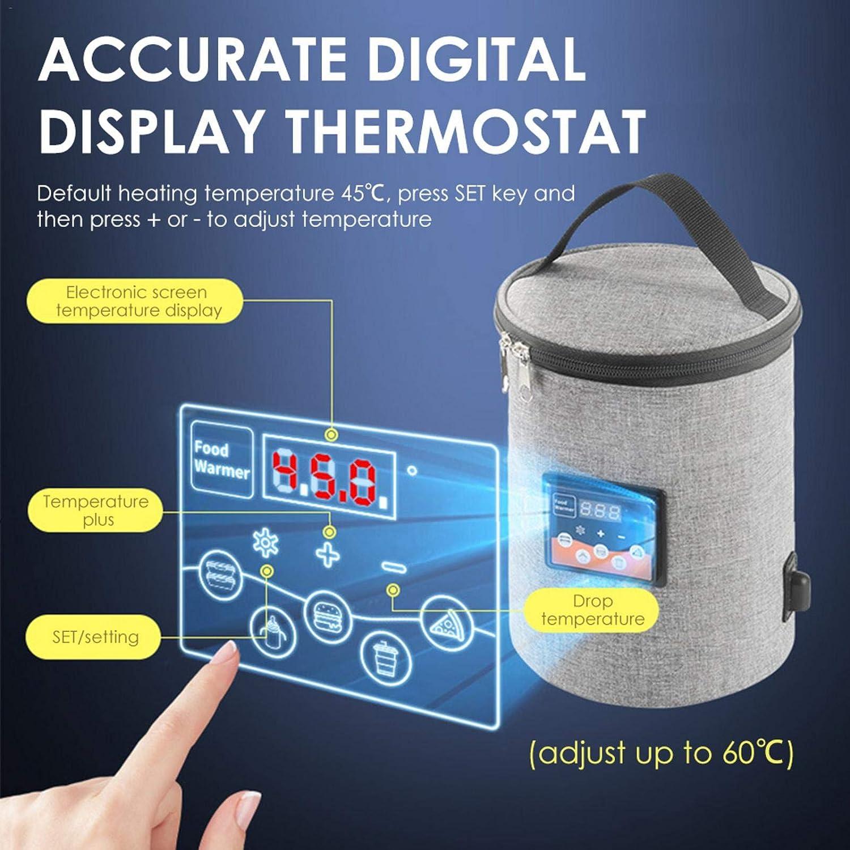Perfeciti per latte e riscaldamento alimentare regolazione precisa della temperatura per latte materno Scaldabiberon con doppia porta USB con display LCD