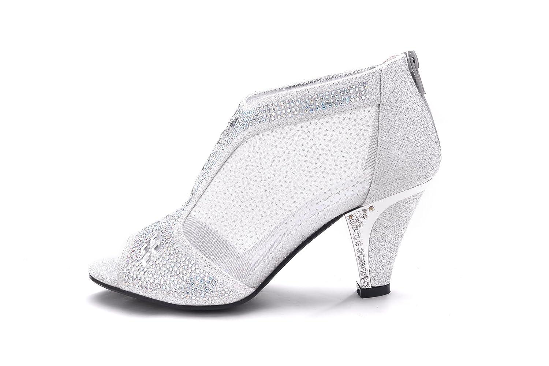 fea1ea01f Mila Lady Women's Lexie Crystal Dress Sandals, Silver 6.5: Amazon.ca: Shoes  & Handbags