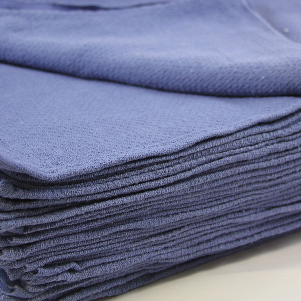 50 New Blue Glass Cleaning Shop Towels Blue Huck Surgical Detailing Glass Towels Generic
