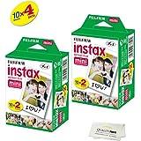 Fujifilm INSTAX Mini Instant Film 4 Pack 40 SHEETS (White) For Fujifilm Mini 8 & Mini 9 Cameras