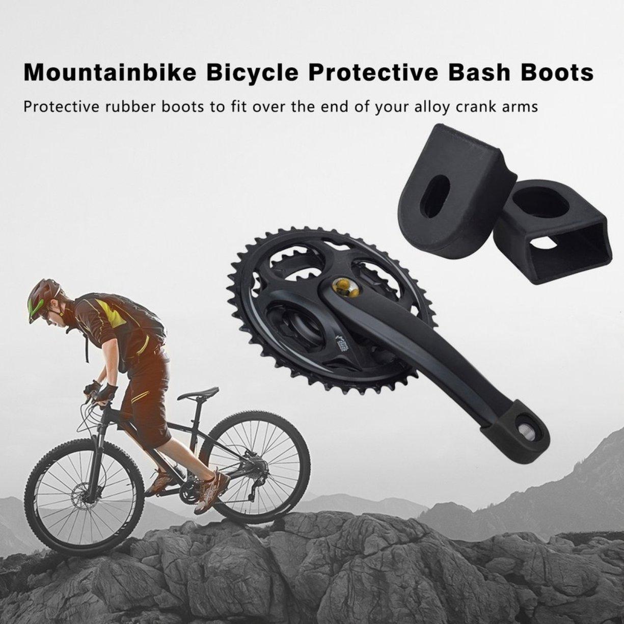 manivela Protector Cubierta Protectora Bielas Mountainbike Botas Protectoras de Bicicleta para Brazo de manivela de aleaci/ón Nueva Llegada