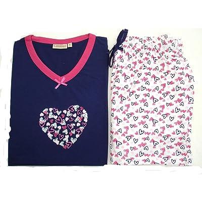 - Pyjama court Dame 100%coton jersey – M à XXL – Marque CAMBIER