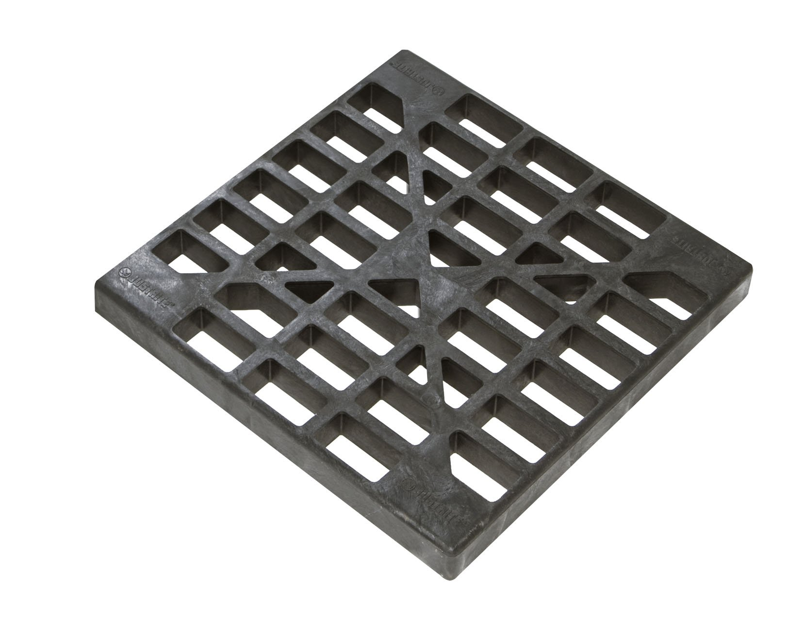 Justrite 28258 Polyethylene Double Rib Replacement 2 and 4 Drum Grate, 48'' Length x 24'' Width x 2-1/2'' Height, Black