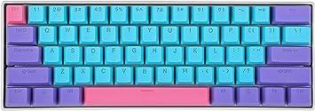 BOYI 60% Teclado mecánico para juegos, BOYI 61 Mini RGB Cherry MX Switch PBT Keycap 60% RGB teclado mecánico para juegos (color Boyi, interruptor azul ...