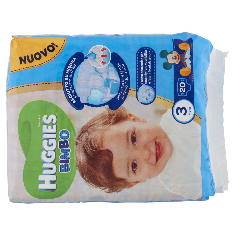 Huggies - Bimbo - Pañales - Talla 3 (4-9 kg) - 20 pañales: Amazon.es: Salud y cuidado personal