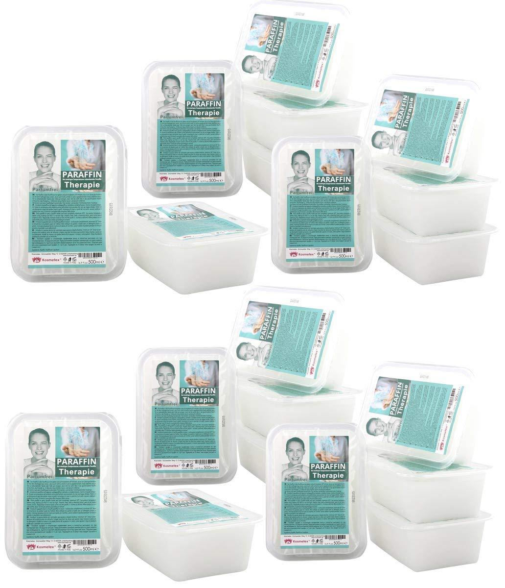Kosmetex Therapie Paraffinwachs für Gelenk Paraffin-Bäder, Parfümfrei, Wachs mit niedrigeren Schmelzpunkt, 2x 500ml Parfümfrei