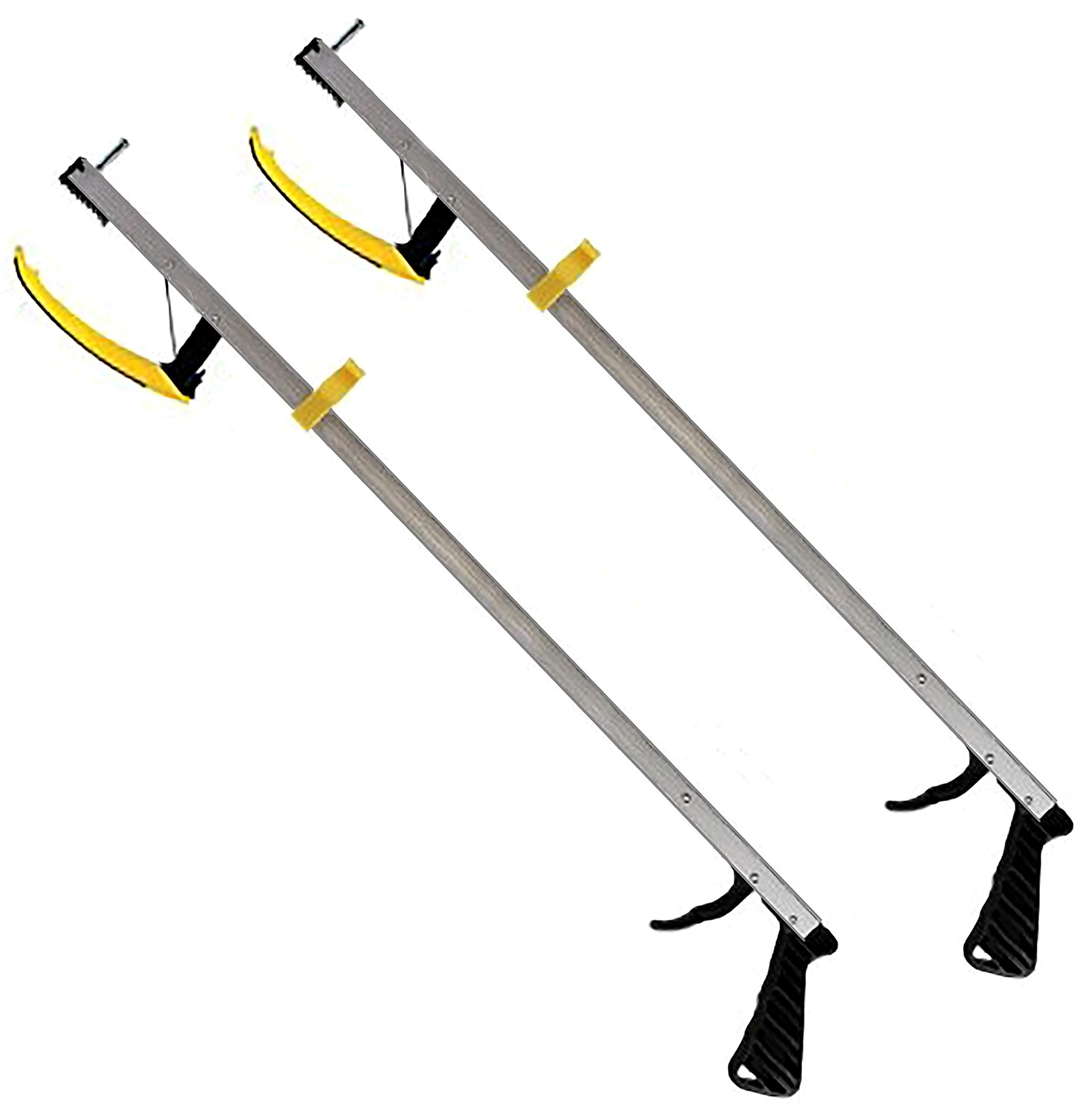 RMS 2-Pack 32 Inches Long Grabber Reacher - Magnetic Tip Helps Pick Up Small Objects - Fitted with Post to Assist with Dressing - Mobility Aid Reaching Assist Tool, Arm Extension (32-inch) by RMS Royal Medical Solutions, Inc.