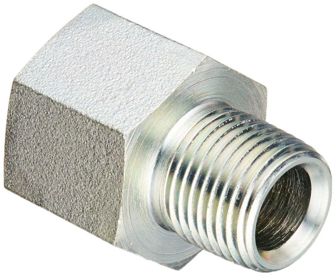 Brennan Industries 6404-10-08 Steel Straight Tube Fitting 7//8-14 SAE ORB x 1//2-14 NPTF Thread 5//8 Female O-Ring Boss x 5//8 Male NPTF