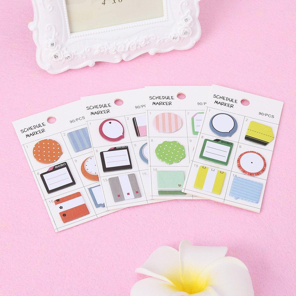 Freshsell Schedule - Pegatinas Autoadhesivas para marcapáginas, diseño de Notas: Amazon.es: Productos para mascotas