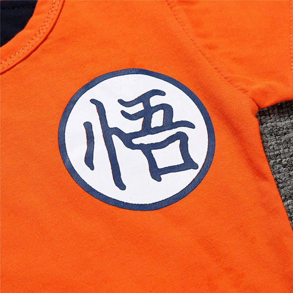 Raleighsee Dragon Ball Anime Cosplay Short Sleeve//Long Sleeve Baby Boy Romper Costume Cartoon Lovely Jumpsuit Baby Clothes