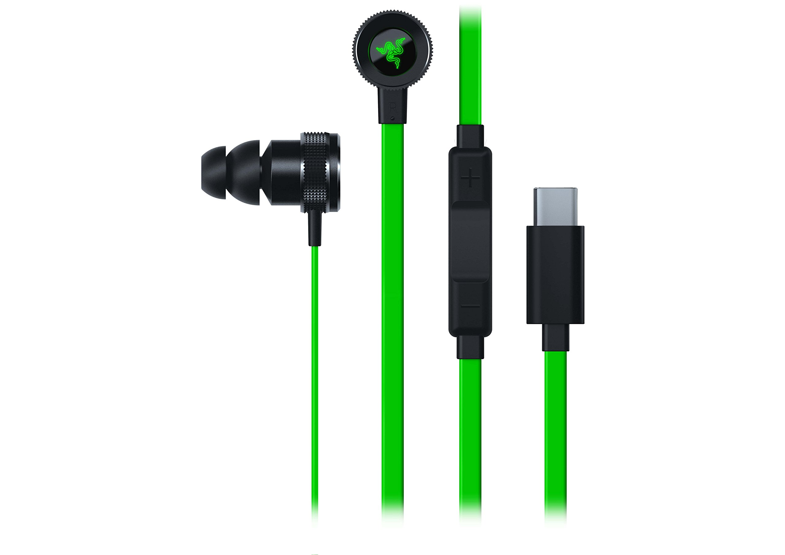 Razer Hammerhead USB-C: 10 mm Dynamic Drivers - Durable Aluminum Chassis and Flat-Style Cable - in-Line Controls by Razer