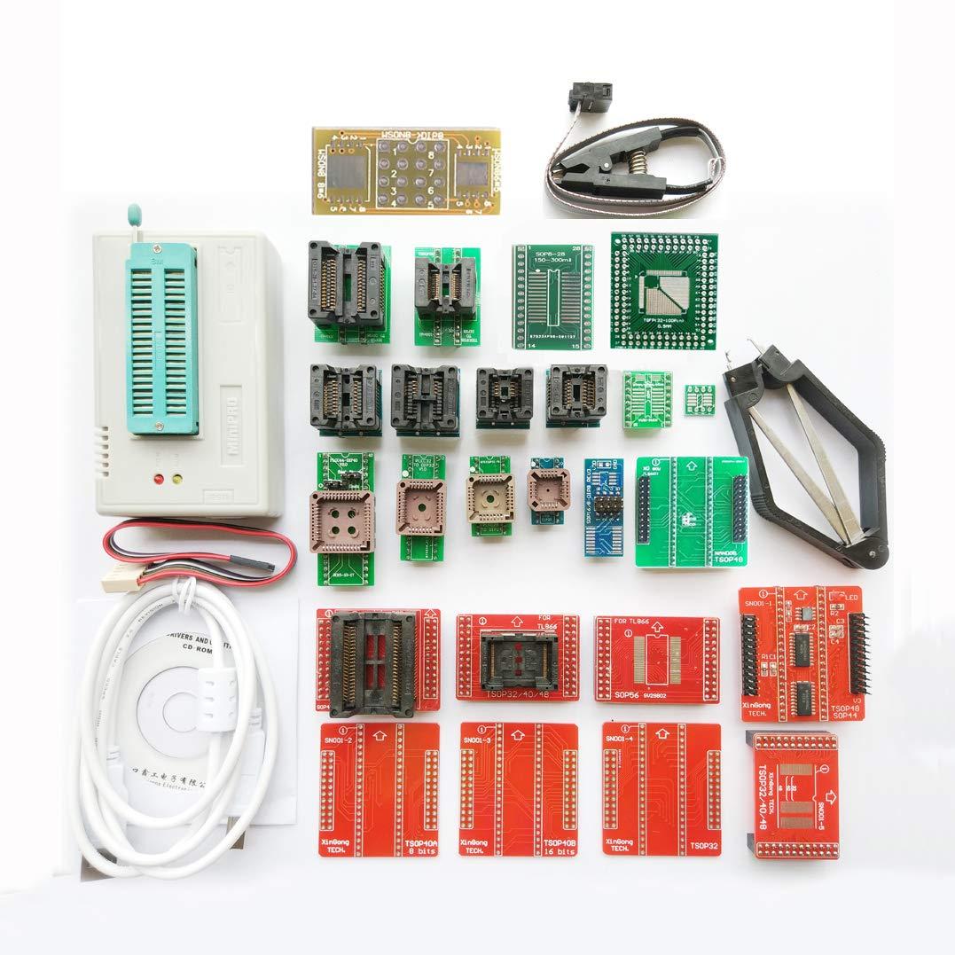 SETCTOP TL866II Plus USB Programmer +27 Adapter Socket + SOP8 Clip 1.8V nand nor Flash 24 93 25 mcu Bios EPROM AVR eprom