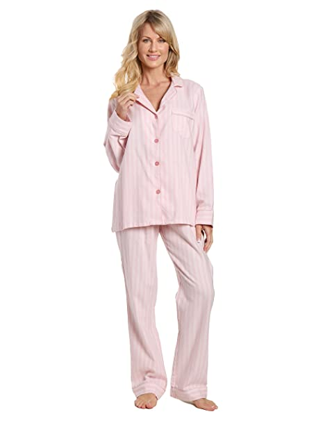 Noble Mount franela ligera conjunto de pijama de rayas-x grande de las mujeres de