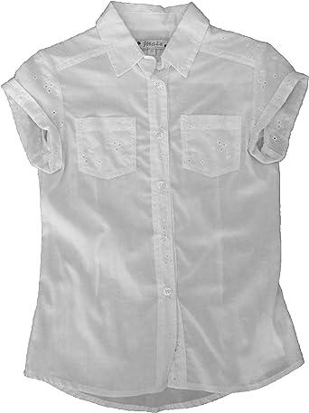 Maiz - Camisa Manga Corta - para niña Blanco 10 años: Amazon ...