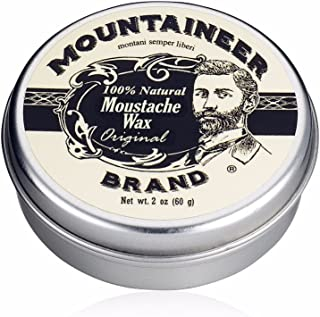 product image for Mustache Wax by Mountaineer Brand (2oz) | All-Natural Beeswax and Plant-Based Oils for Moustache | No Petroleum Chemicals | Original Cedar Fir Scent
