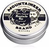 Mustache Wax by Mountaineer Brand (2oz) | All-Natural Beeswax and Plant-Based Oils for Moustache | No Petroleum Chemicals | O