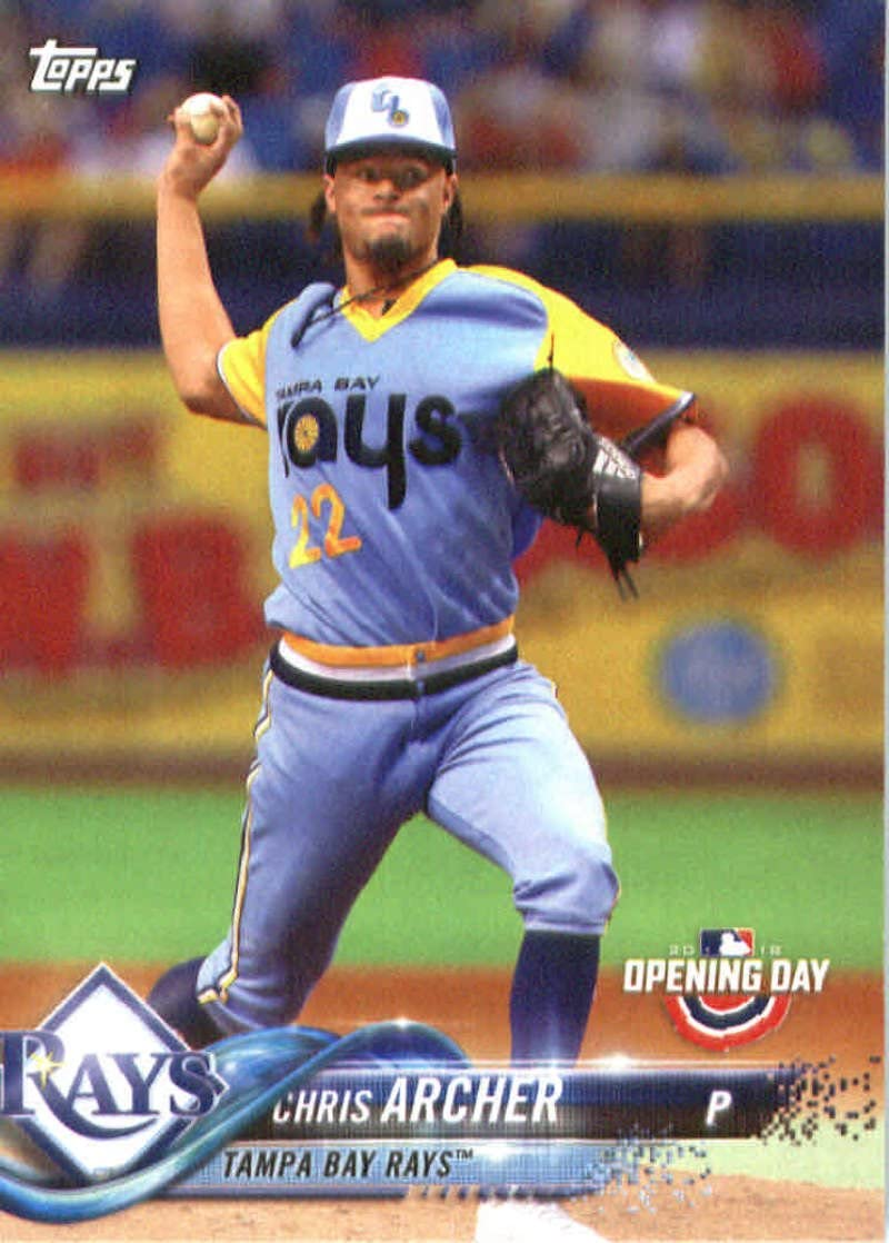 Amazon.com: 2018 Topps Opening Day #99 Chris Archer Tampa Bay Rays ...