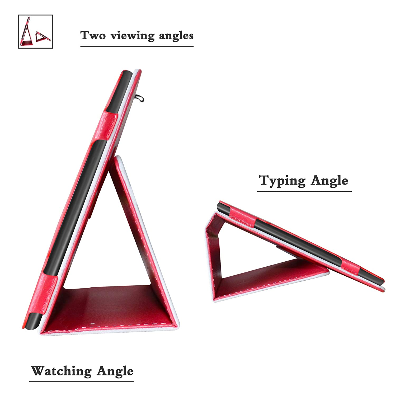 10 Slim Ultra Pelle Sottile e Leggera Cover Case Custodia per 10.0 Alcatel A3 LFDZ Alcatel A3 10 4G Custodia 4G Tablet{Not Fit Alcatel A3 10 WiFi Version},Rosso