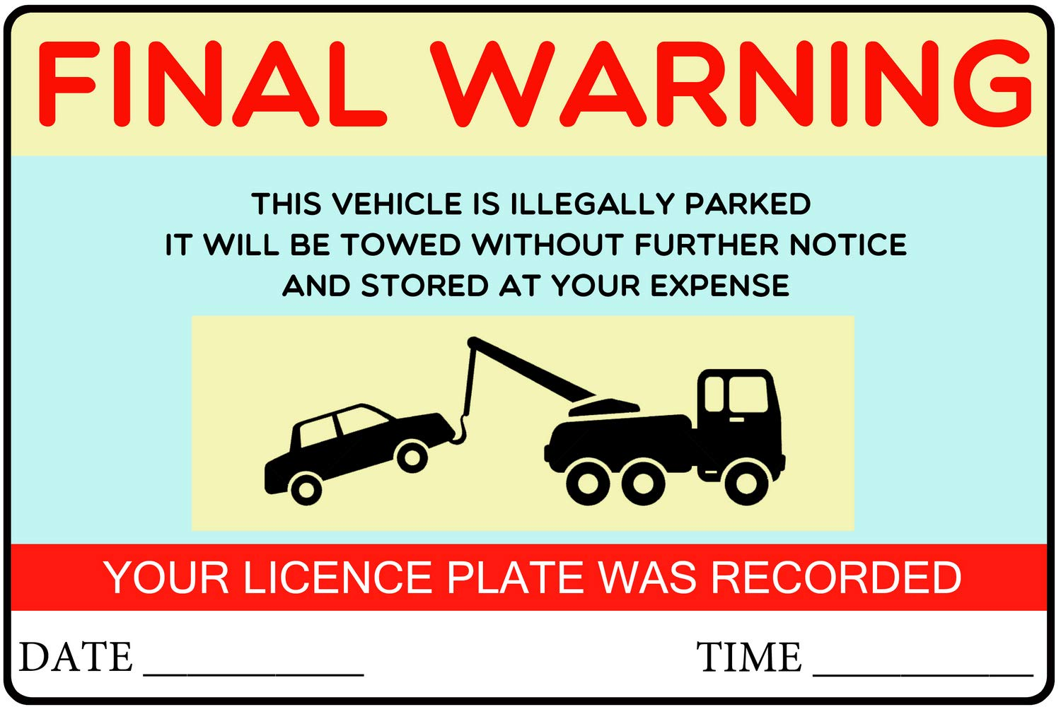Private Parking Stickers Reserved No Permit Area Violation Warning Notice Label Sticker - 9x6 Inch - Pack of 1000, Blue by PrintValue