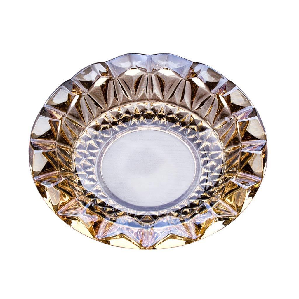 TLMY ラウンド灰皿彫刻タバコ灰皿21×21×5.5 cm 灰皿   B07Q5L8VB1