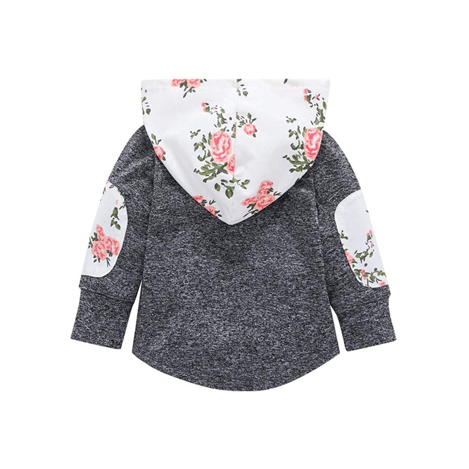 514348bdf Amazon.com: KONIGHT Kids Toddler Baby Girls Fall Outfit Floral Pocket  Hoodie Jackets Coat Clothes Tops Clothing: Clothing