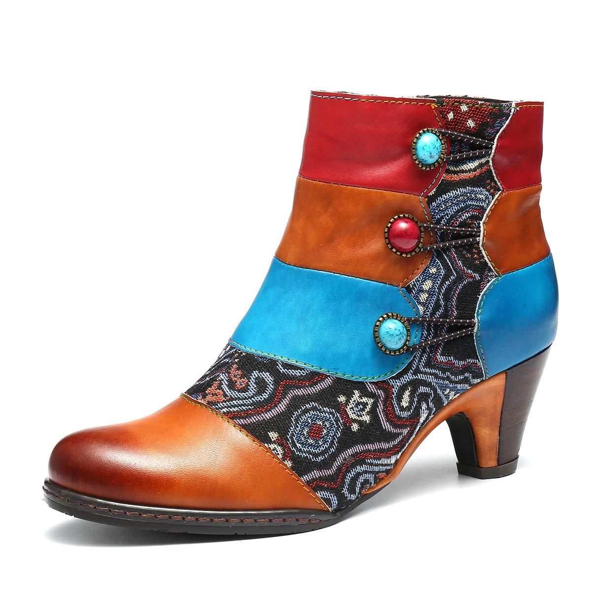 gracosy Botines de Mujer 2019 Cuero Invierno Tacon Alto Moda Urbana Suela Blanda En El Medio Martín Botas Botines Chelsea Botas de Nieve Diseño Original ...
