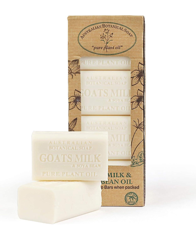 Australian Botanical Soap, Goat's Milk & Soya Bean Oil Plant Oil Soap, 7 oz. 200g Bars - 8 Count