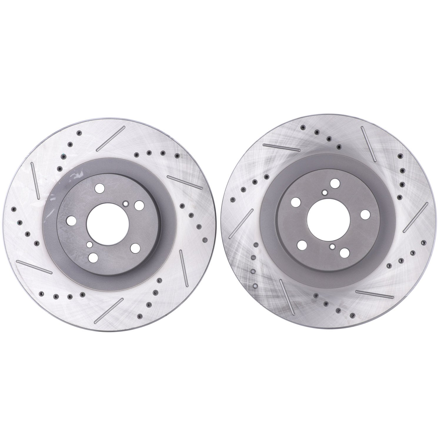 Front 2 Pack OE STOP OE34203 Premium Drilled Slotted and Corrosion Protection Coated Rotor