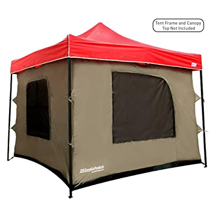 C&ing Tent attaches to any 10\u0027x10\u0027 Easy Up Pop Up Canopy Tent with  sc 1 st  Amazon.com & Amazon.com : Camping Tent attaches to any 10\u0027x10\u0027 Easy Up Pop Up ...