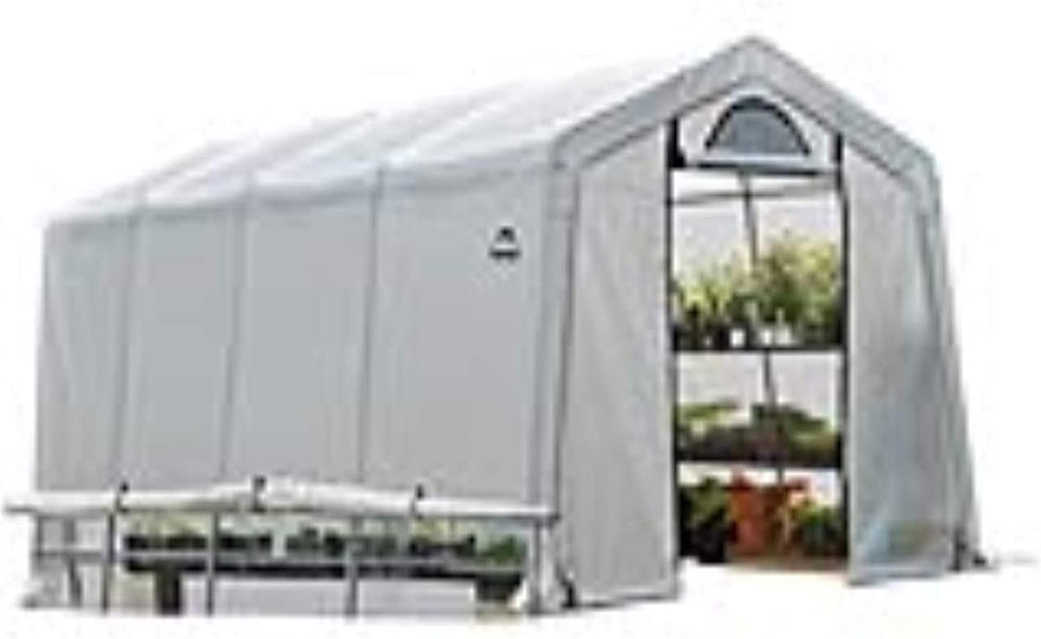 ShelterLogic 10' x 20' GrowIT Greenhouse-in-a-Box Flow Peak Roof Style Easy Access Outdoor Grow House with Translucent Waterproof Cover