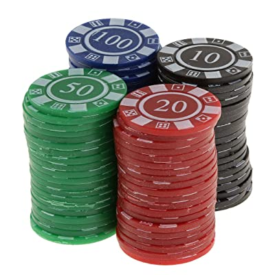 80pcs / Caja Juguetes Juegos Casino Fichas con Flores Póquer Mahjong Color Rojo Negro Azul Verde: Juguetes y juegos
