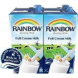 Rainbow Full Cream Milk -  1 Litre (Pack of 4)