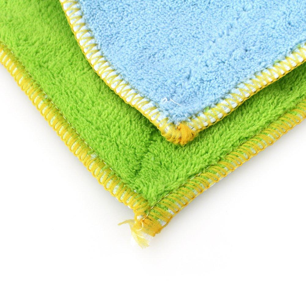 Yosoo Dish Cloth Towel,10 Pack - Bamboo Fiber Dish Towel Kitchen Clean Towels Dishcloth Household Wash Rag, 10.2 x 6.2 by Yosoo (Image #1)