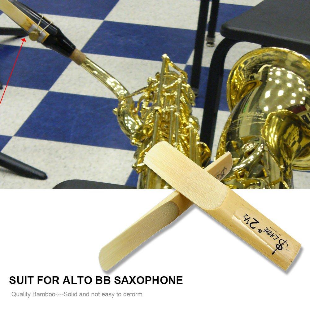 Strength 2.5 Reeds for Bb Tenor Sax Saxophone Accessories 10Pcs Saxophone Bamboo Reeds