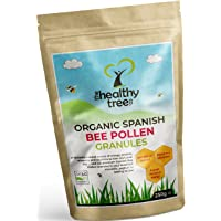 Gold Standard Organic Spanish Bee Pollen - High in Vitamins C, B1, B2, B3, Iron, Zinc and Magnesium - Highest Quality Pure Bee Pollen Granules by TheHealthyTree Company