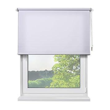 Amazon De Fensterdecor Fertig Sichtschutzrollo Weiss 160 X 180 Cm Bxh