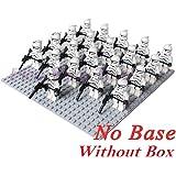 Hot 21 PCS White Clone Trooper Star Wars Mini figures combat team Building Toys
