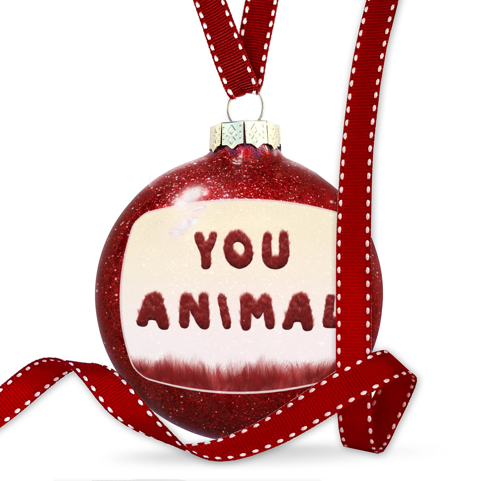 Christmas Decoration You Animal Red Monster Hair Ornament