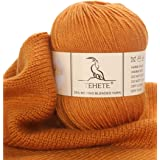 TEHETE Merino Wool Yarn for Knitting 3-Ply Soft Crochet Yarn