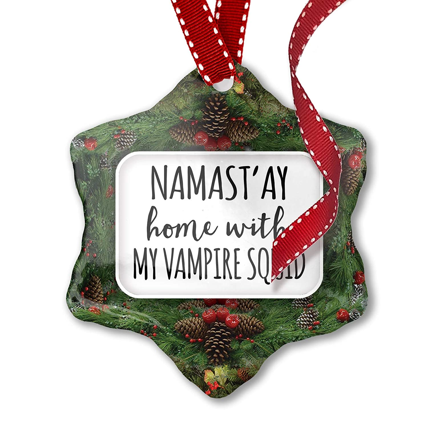 Amazon Com Neonblond Christmas Ornament Namast Ay Home With